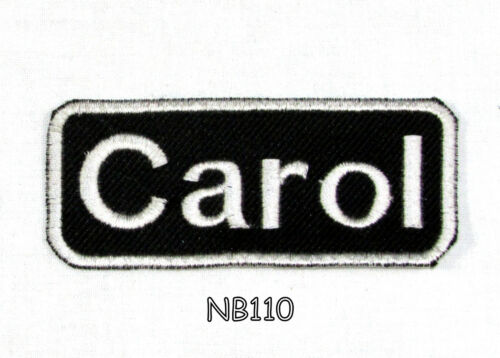CAROL Name Tag Patch Iron or sew on for Shirt Jacket Vest New BIKER Patches