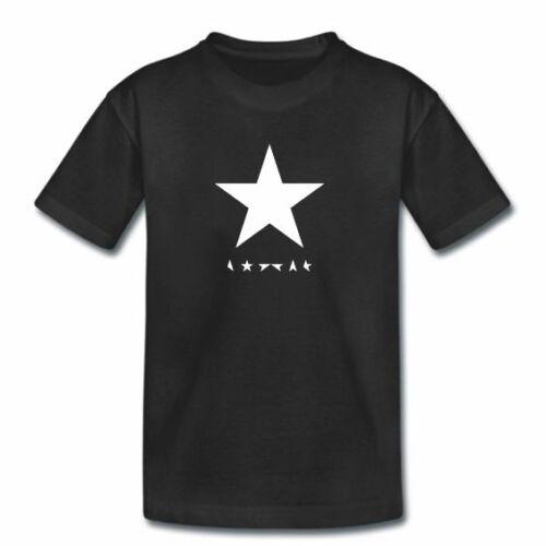 Blackstar Black Star Kids DAVID BOWIE TShirt Childrens Boys Girls