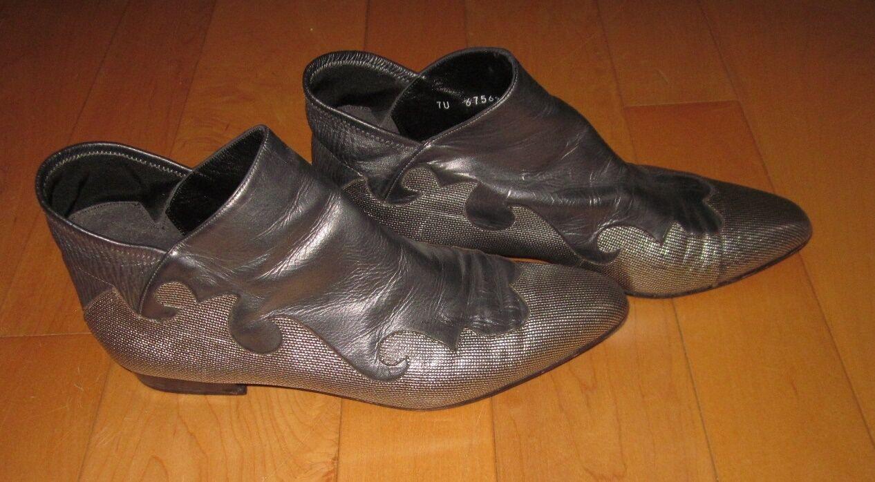 Stuart Wms Gray Western Style Leder Fun Ankle Stiefel Sz 8.5 SHARP Must C