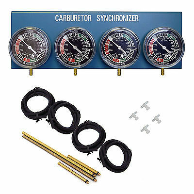 MOTORCYCLE CAR TOOLS- CARBURETTOR CARB BALANCER VACUUM GAUGES GAUGE 2 4 CYLINDER