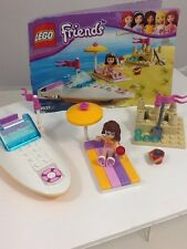 Lego Friends 3937 Olivia's Speedboat 100% Complete With Instruction Book
