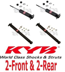 Set of 4 Shock Absorbers KYB Excel-G 2 Front 2 Rear For Chevrolet Corvette