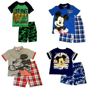 Boys-039-2-Piece-Shorts-Set-Disney-Mickey-Mouse-Teenage-Mutant-Ninja-Turtles-NWT