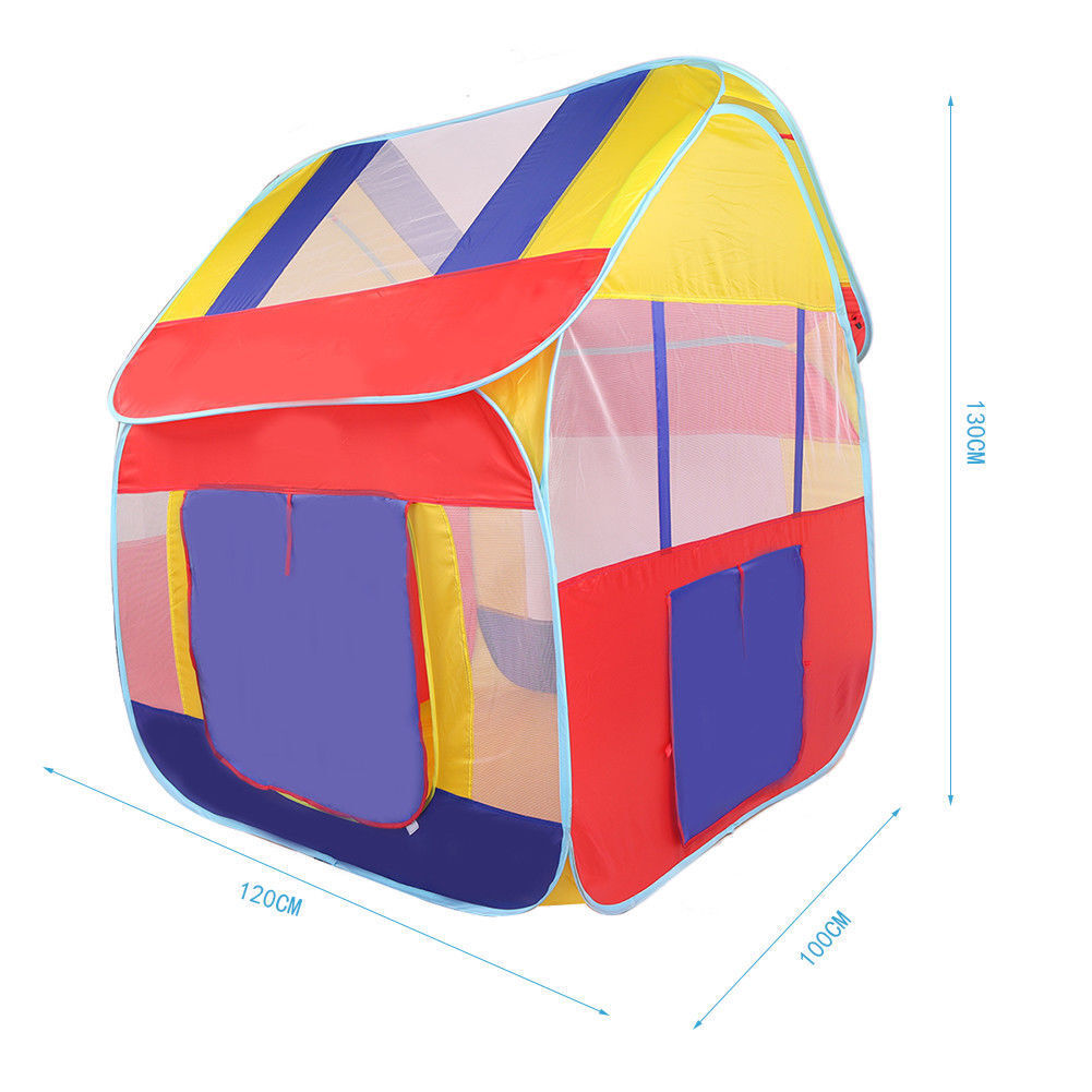 Pop-Up Tent Play Play Play House Playground Ball Pit Hut Fun Indoor Outdoor Game For Kids d37551
