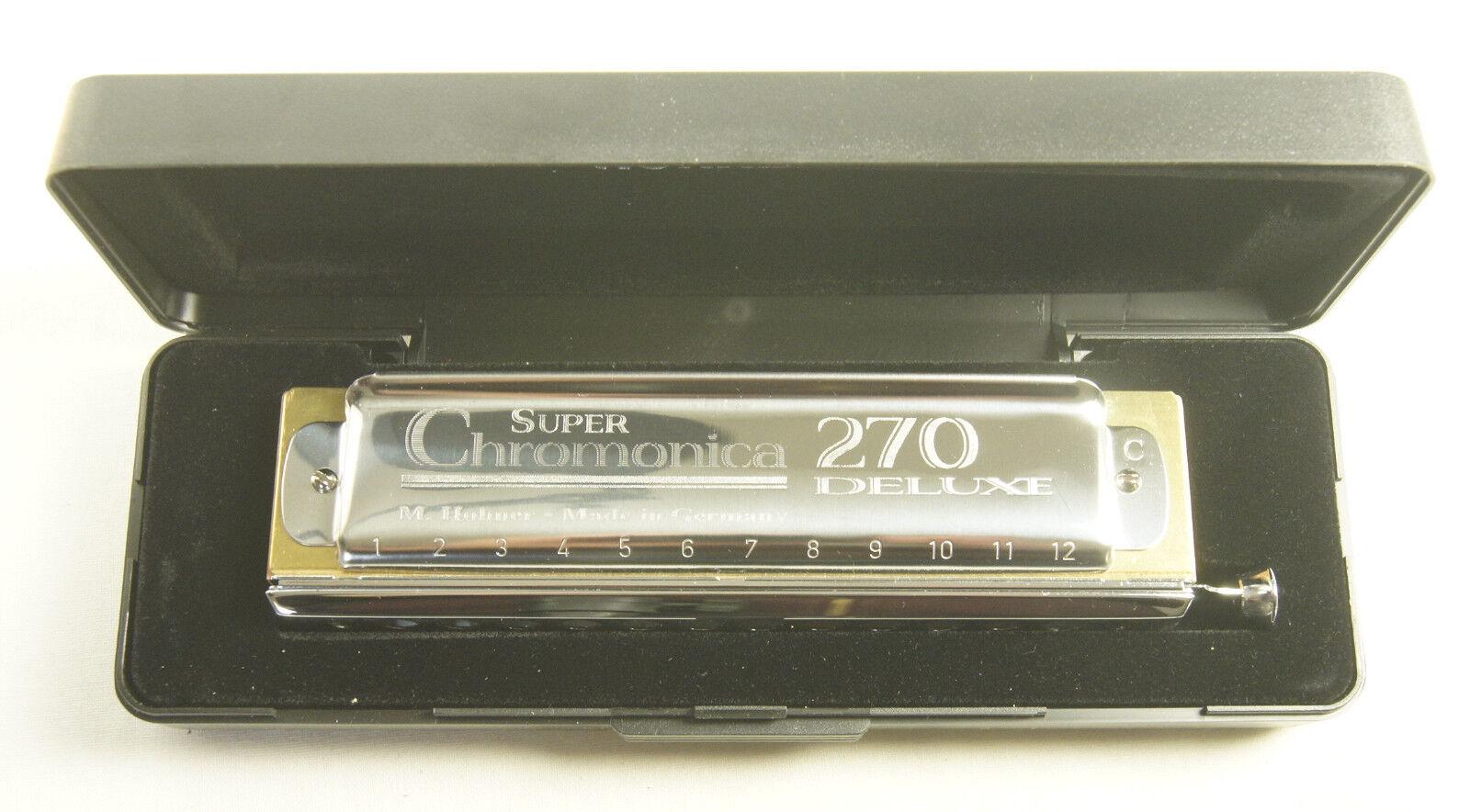 Harmonica Chormatique Hohner Super Chromonica 270 Deluxe in Do C 7540//48