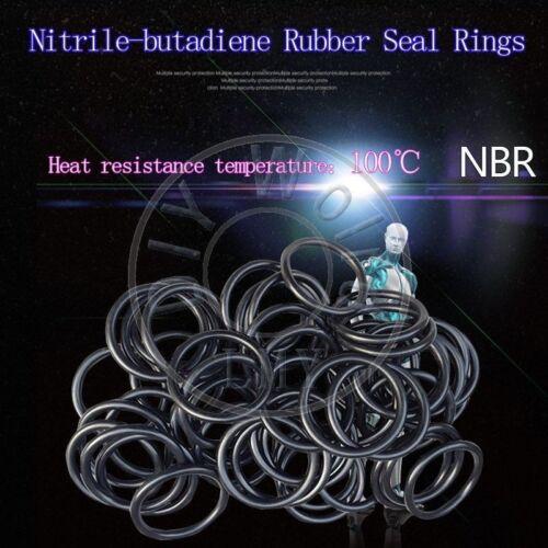 100 x NBR Rubber O Ring Seal Plumbing Gasket WD 1.9 OD 95//98//100//105//110//120mm