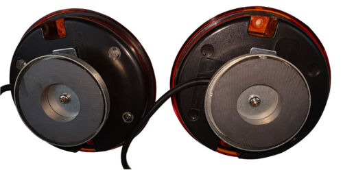 LED 3 Funktions Anhänger Beleuchtung RUND Beleuchtungssatz 7,5m Kabel und Magnet