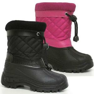 BOYS-SNOW-BOOTS-GIRLS-INFANTS-WINTER-WATERPROOF-FUR-WELLINGTONS-MUCKER-SHOE-SIZE