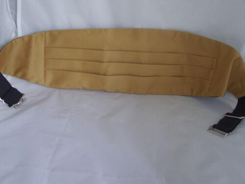 GOLD Mens Polyester Cummerbund/>The More Cummerbunds U Buy/>More U Save/>60 Colours