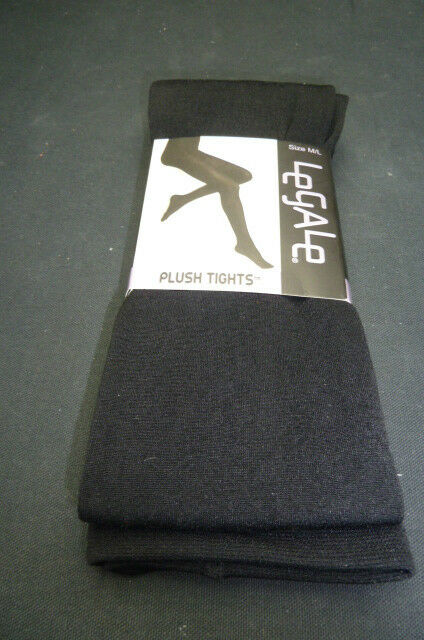 NEW LEGALE PLUSH LINED TIGHTS IN BLACK ....NWT s//m