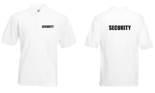 Polo Sécurité Blanc portier bouncer T-shirt Imprimé Bodyguard