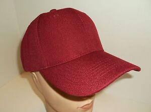 19c1efeda7d Baseball Ball Cap Hat~Maroon-Burgundy~Blank Solid~Adjustable~BK Caps ...