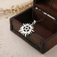 Supernatural Necklace Dean Pentagram Pentacle Sun and Star Pendant Movie Jewelry