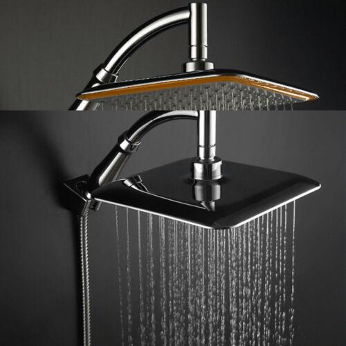 "Modern 9/""Square Chrome Stainless Steel Water Rainfall Overhead Shower Head"