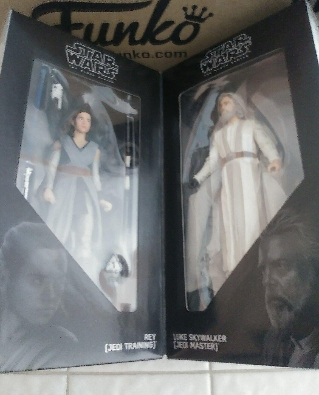 Exclusivo Sdcc 2017 Hasbro Star Wars Luke Skywalker Rey nero Serie Kit de Figuras