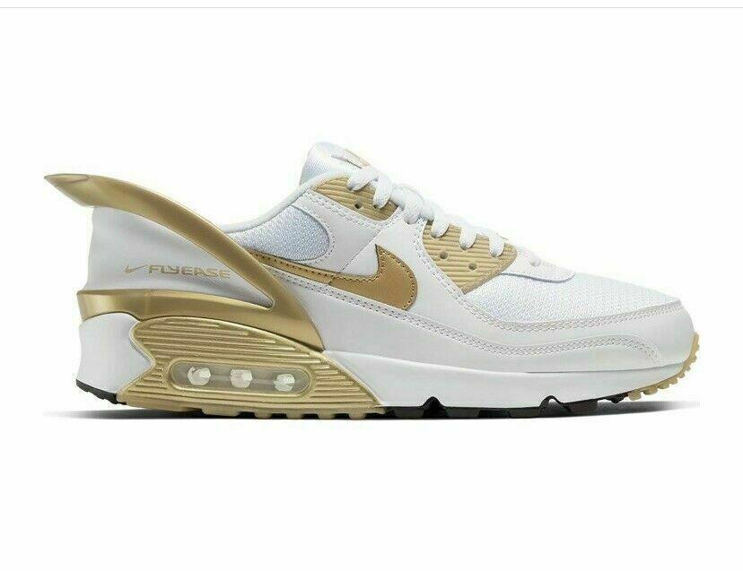 Size 12 - Nike Air Max 90 FlyEase Metallic Gold 2020
