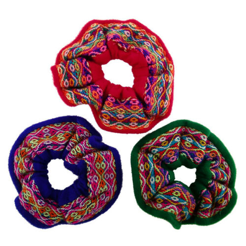Breathable Peru Lot Colourful Pony Tail Band Manta Hair Tie Scrunchies 12 Pack