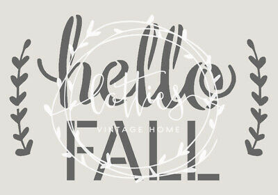 HELLO FALL A5 STENCIL Art Crafts Shabby Chic AUTUMN Upcycle 190 mylar