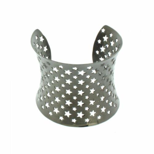 Grey Armreif 107500 Sterne Edelstahl grau schwarz