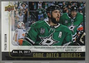 2017-18-17-18-Upper-Deck-UD-Game-Dated-Moments-16-Tyler-Seguin-Dallas-Stars