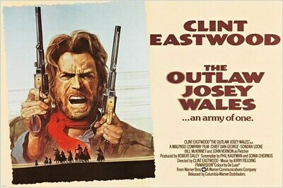 The outlaw Josey Wales Clint Eastwood movie poster 24x36 inches