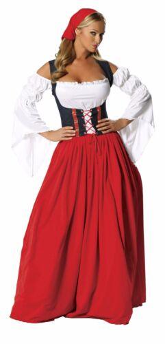 Roma SWISS MISS bière Maiden Oktoberfest rouge longue robe avec corset Costume 1450