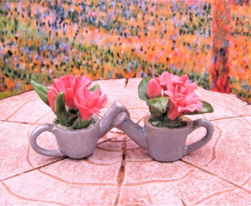 Buy 3 Save $5 Miniature Fairy Garden Set of 2 Flowers in Watering Can #1