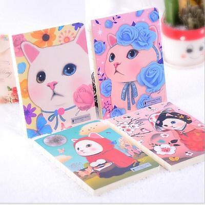 """Miss Kitten"" 1pc Notebook Sketchbook Cute Cat Blank Paper Diary Journal Notepad"