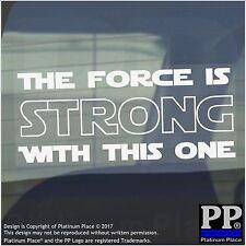 1 x la forza è forte con questo One-Bianco-Auto, Furgone, Firmare, Adesivo, STAR WARS, YODA
