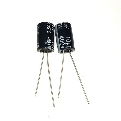 10PCS 22uF 400V 22MFD 400Volt Electrolytic Capacitor 10mm×17mm