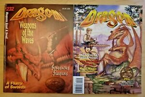 Dragon-Magazine-issues-232-amp-242-lot-Weapons-Great-amp-Small-Spells-amp-Magic