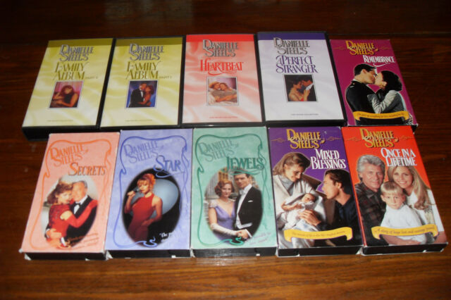 Lot of VHS Romance DANIELLE STEEL Jewels, Star, Secret PLUS MORE Free s/h Canada