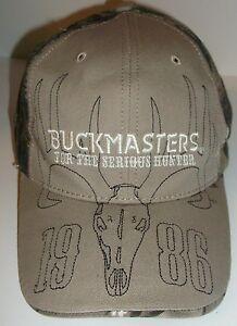 Image is loading Buckmasters-Ball-Cap-TAN-and-Camo-Serious-Deer- 150624298
