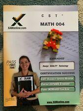 CST Math 004 teacher certification exam