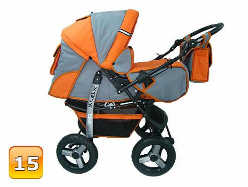 SALE Baby Pram Stroller Pushchair Car seat Carrycot 3in1 Swivel Travel system