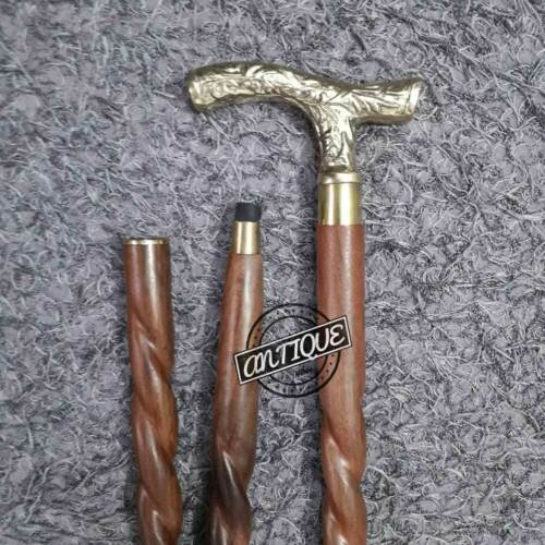 Details about  /PERFECT RETIRED MARINE//SOLDIER GIFT WALKING CANES HANDMADE WOOD BROWN STICK WOOD