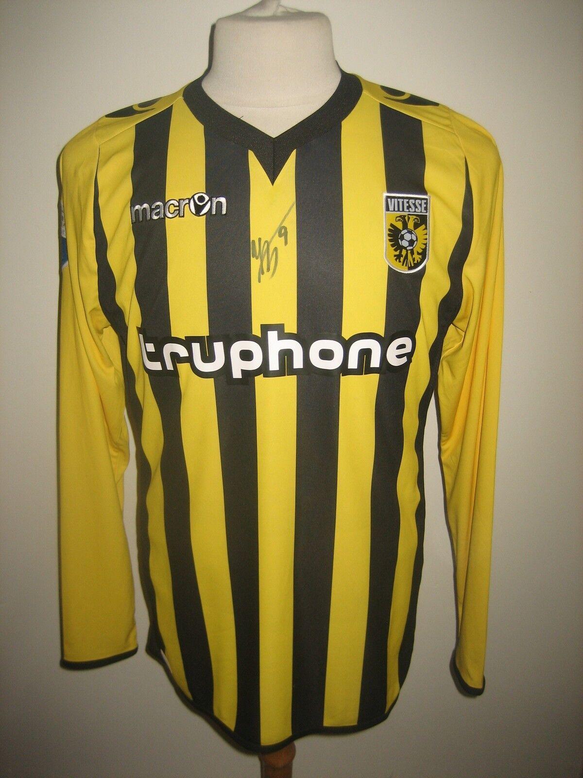 Vitesse MATCH WORN Holland SIGNED football shirt soccer jersey serbia Talla M