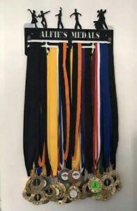 Taekwondo Medal Hanger Holder Display Rack PERSONALISED 3Tier 5mm AcrylicCOLOURS