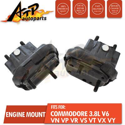 2 Engine Mounts VN VP VR VS VT VX VY Commodore 3.8L V6 Front Rubber LH RH Pair