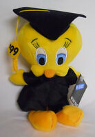 1999 Warner Bros Studio Store Graduation Tweety Bird Mini Bean Bag-beanie