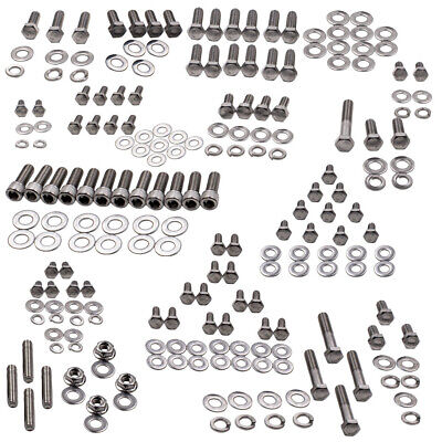 Small Engine Hex Bolt Kit Stainless Steel for Chevy SBC 265 283 305 307 327 350 400