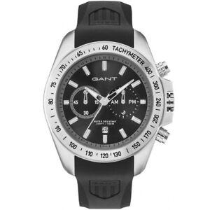Gant-GT059003-Bedford-Chronograph-silber-schwarz-Armband-Uhr-Herren-NEU