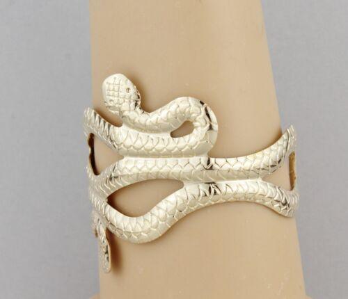 Snake metal cuff bracelet bangle halloween costume party greek Goddess Khaleesi
