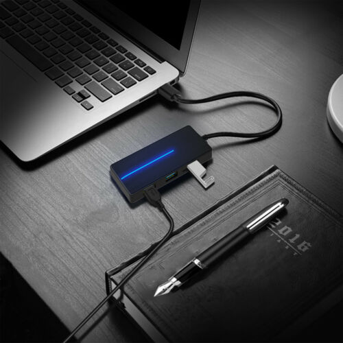 4 Port USB 3.0 Ultra Type C Slim Data Hub Adapter Charger For TF SD Card Reader