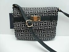 TOMMY HILFIGER Woman's XBody Messenger Bag *Black/White *Shoulder Purse New