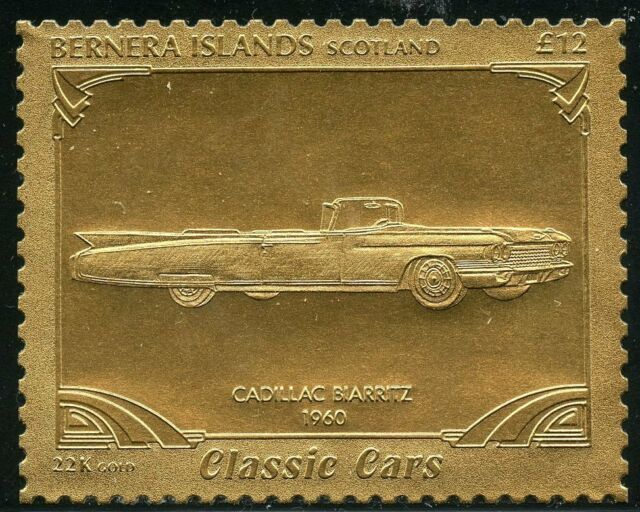 Bernera Islands Stamps 1996 Classic Car 22k Gold Foil Stamp Mnh For Sale Online Ebay