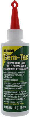 Beacon GEM-TAC Permanent Adhesive Glue 4 Oz. For Gems Sequins Rhinestones Crafts