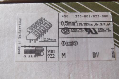 20 pezzi Siemens WAGO VITI MOLLA senza sistemi di bloccaggio 233-001//023-000