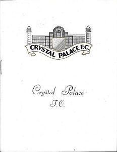 Football-Programme-gt-CRYSTAL-PALACE-v-PORTSMOUTH-Dec-1966