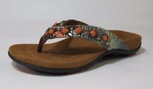 96a2c91f7f3c Vionic Women s Floriana Toe Post Sandal 10-US (M) Mint Snake FREE ...